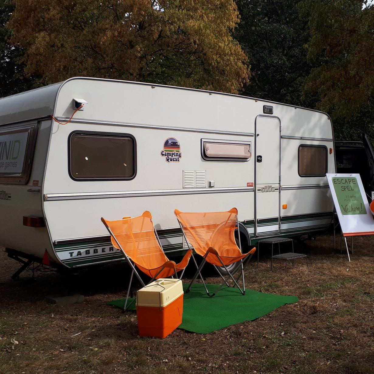 Camping Quest is mobiel! Dit escape spel komt naar de locatie van jouw keuze.