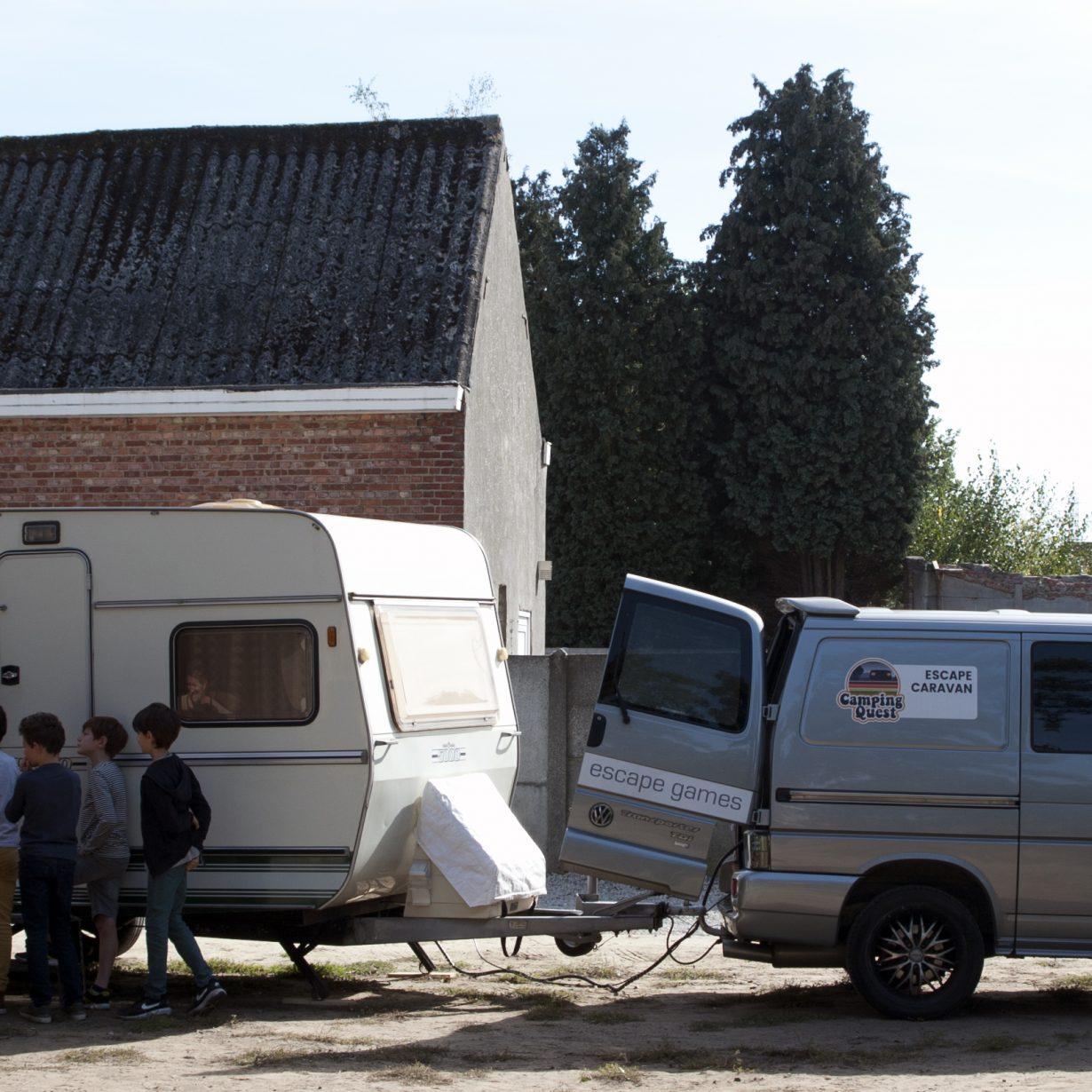 De escape caravan op een kinderfeestje - superorigineel.